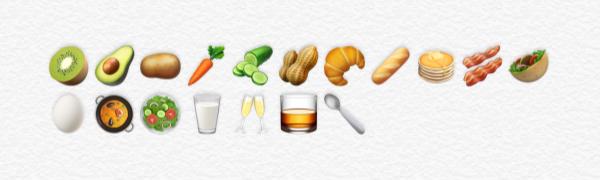 Nieuwe voedsel emoji's in iOS 10.2.