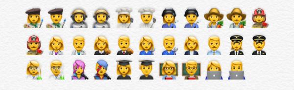 Nieuwe beroepen emoji's in iOS 10.2.