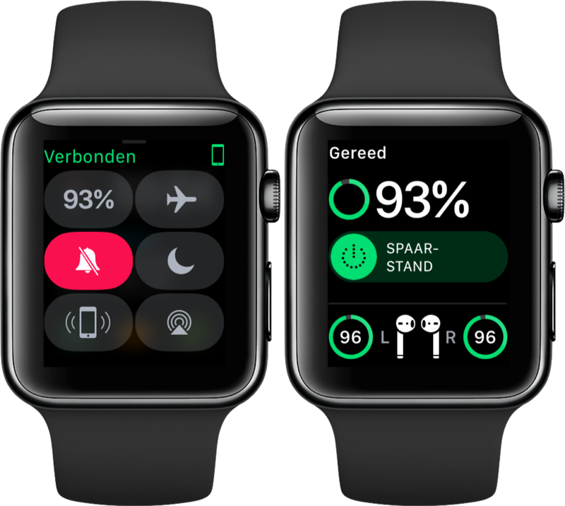 AirPods batterijstatus op de Apple Watch bekijken.