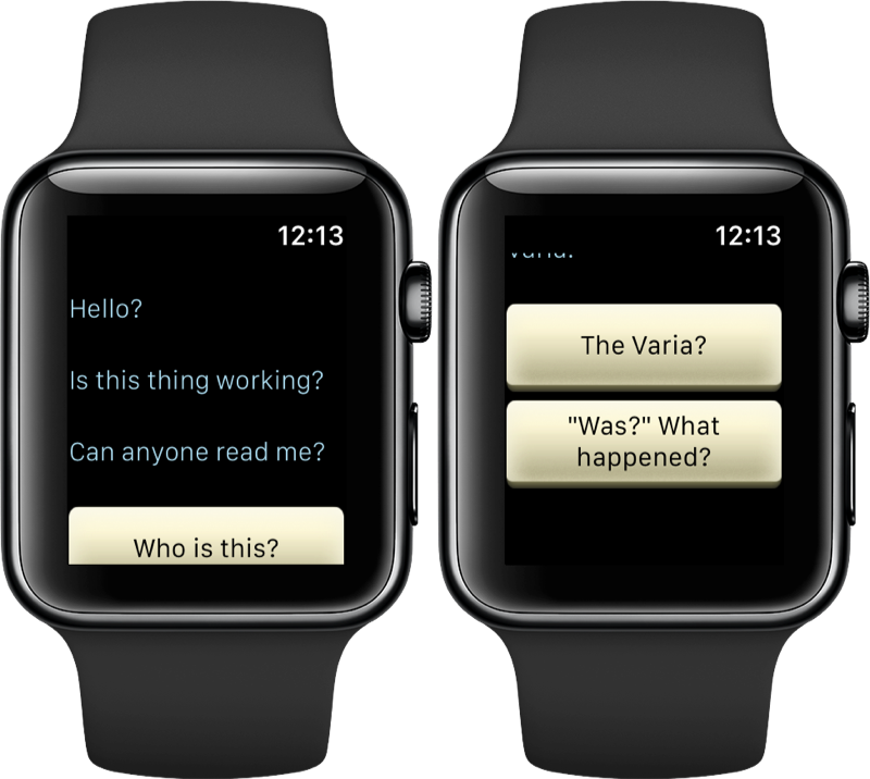 LifeLine op de Apple Watch.