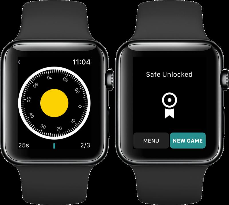 Break This Safe op de Apple Watch.