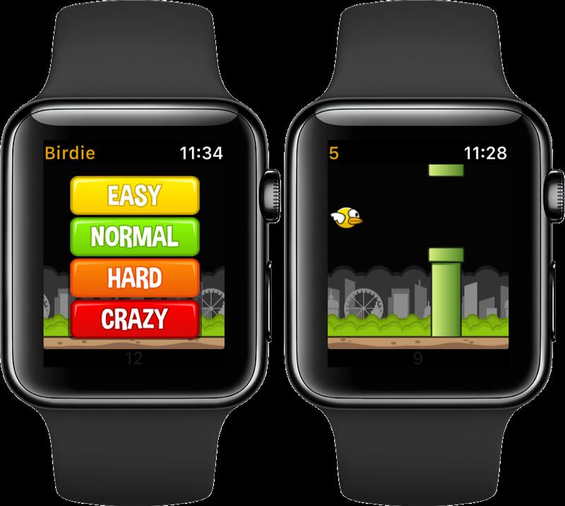 Birdie op de Apple Watch.