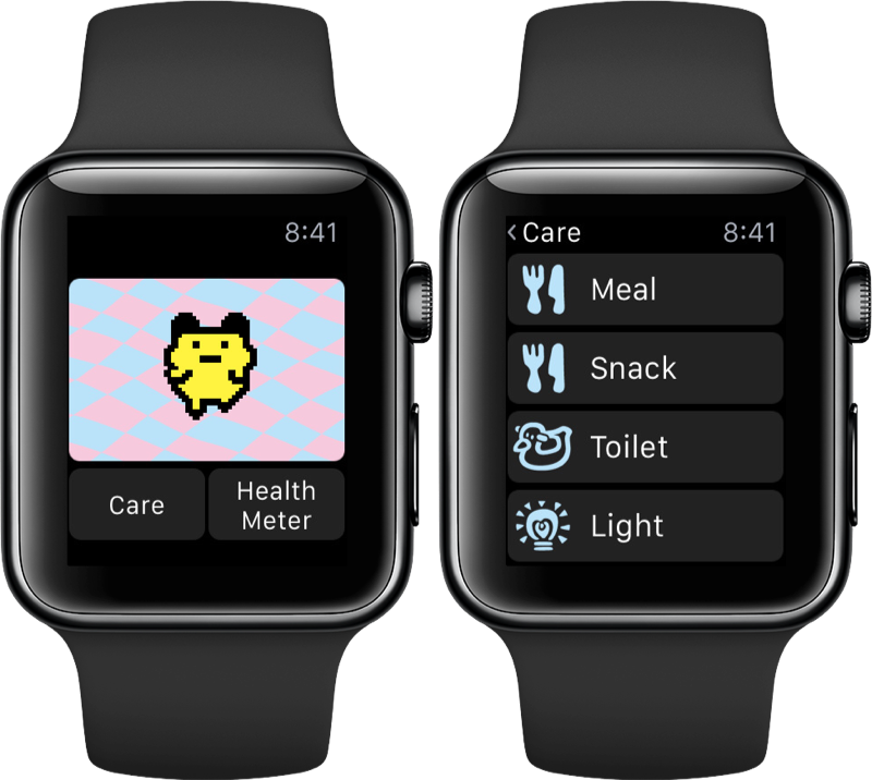 Tamagotchi Classic op de Apple Watch.