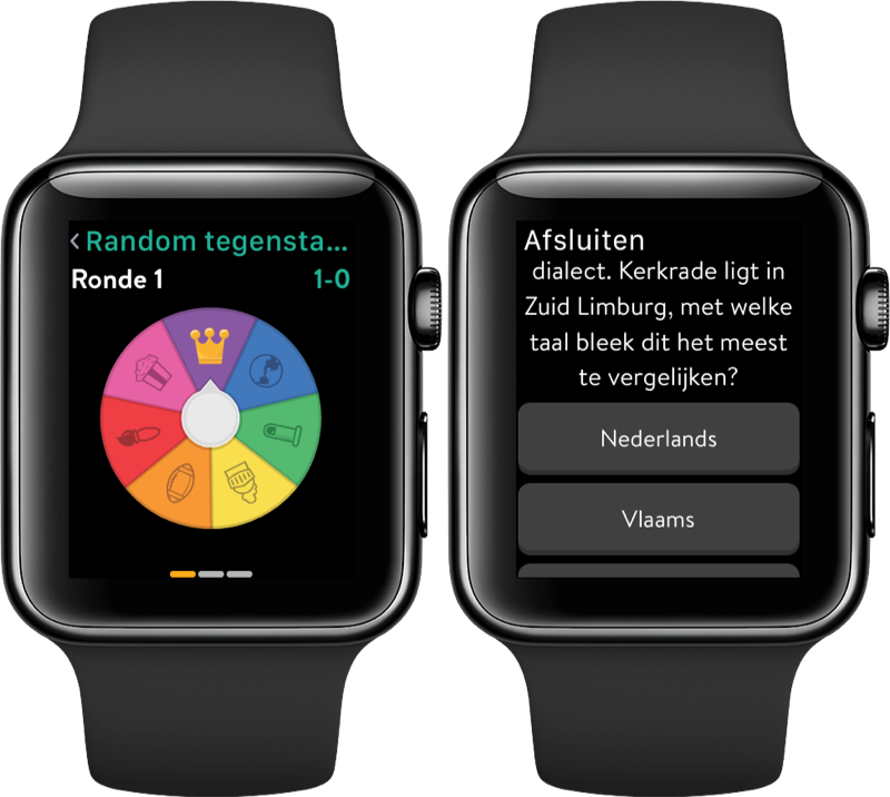 Trivia Crack op de Apple Watch.