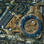 Apple Campus 2 luchtfoto