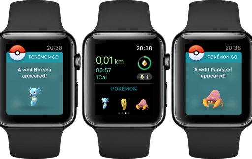 Pokémon Go Plus Pokémon vangen op Apple Watch