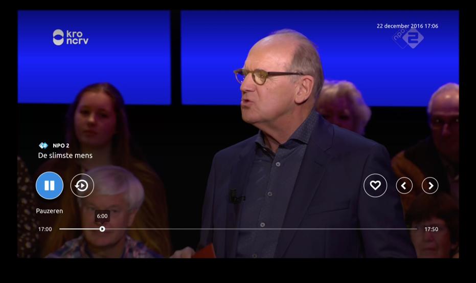 Knippr op Apple TV met terugspoelen.