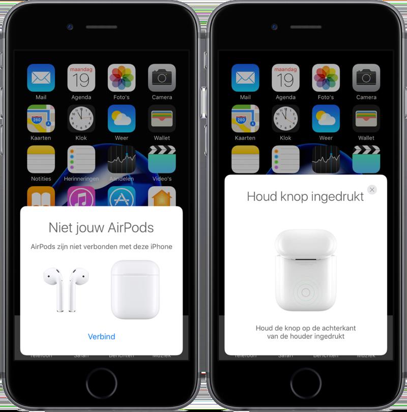 AirPods koppelen aan een extra iPhone.
