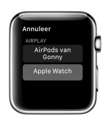 AirPods op je Apple Watch.