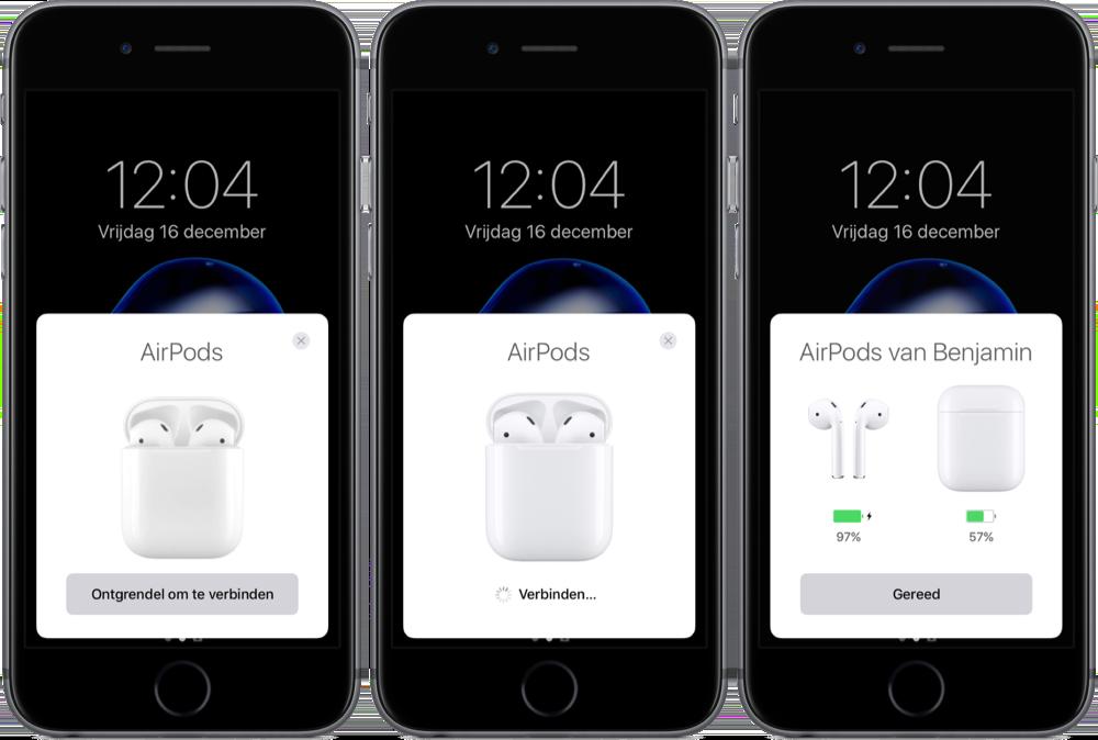 AirPods koppelen aan je iPhone.