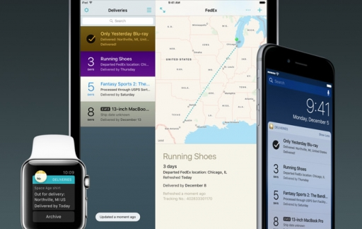 Deliveries voor iPhone, iPad en Apple Watch