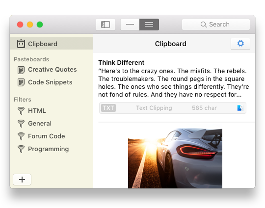 Klembord in Pastebot op de Mac.
