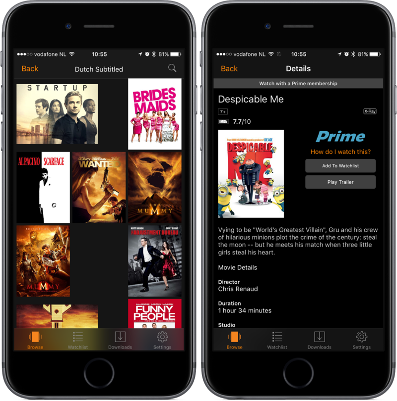 Amazon Prime Video ondertiteling in Nederlands.