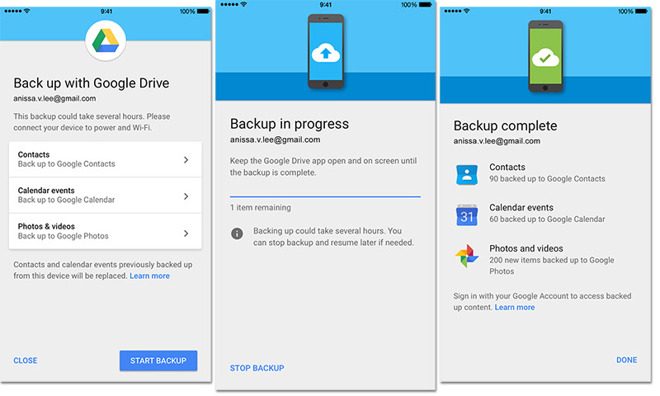 Google Drive overstaptool