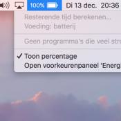 Apple gaat je waarschuwen als je MacBook-scherm veel stroom verbruikt