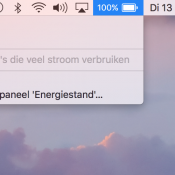 Apple laat geen resterende batterijduur meer zien in macOS 10.12.2