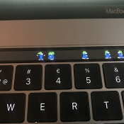Lemmings op Touch Bar