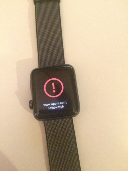 Bricked Apple Watch door watchOS 3.1.1.
