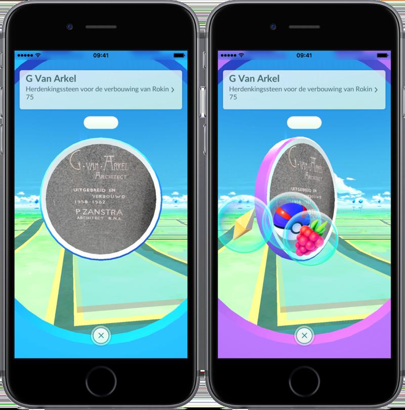 PokéStop bezoeken in Pokémon Go.
