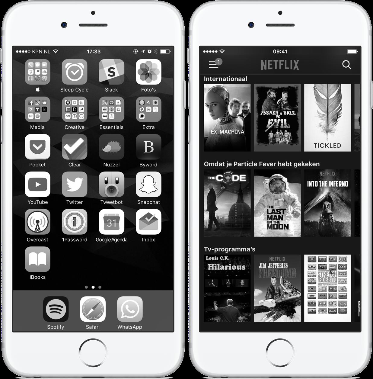 Grijstinten iPhone