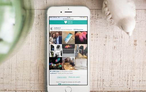 Instagram #2016bestnine, jouw populairste Instagram-foto's van 2016