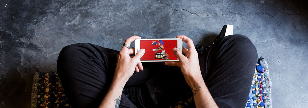 Super Mario Run spelen in Apple Store