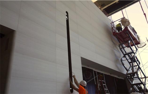 Apple Campus 2 muren met speakers