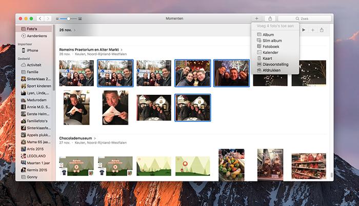 Wenskaart maken met Foto's voor Mac