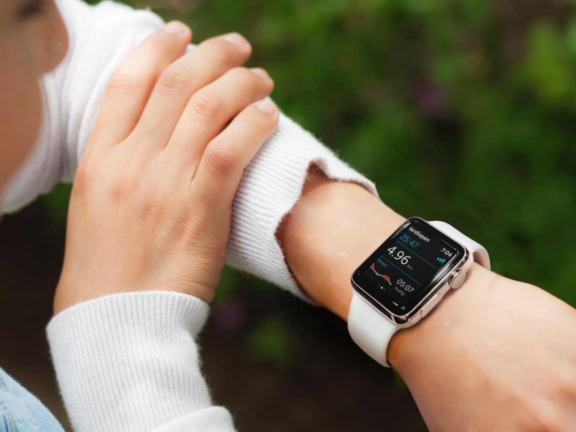 Apple Watch met Runkeeper.