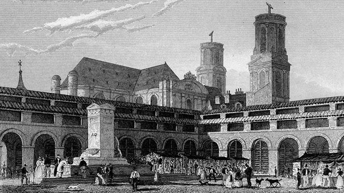 Marché Saint-Germain in 1834