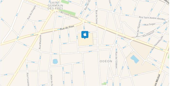 Plattegrond Apple Store Marché Saint Germain
