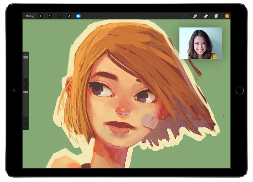 Procreate op de iPad