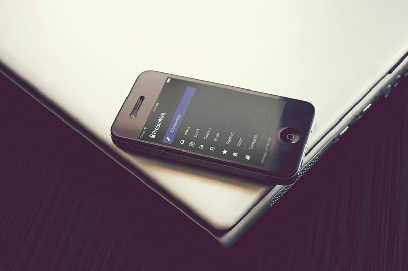 ProtonMail op de iPhone
