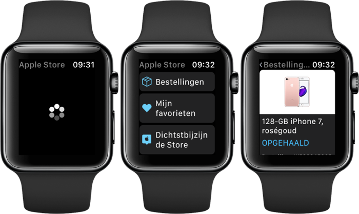 Apple Store-app op de Apple Watch