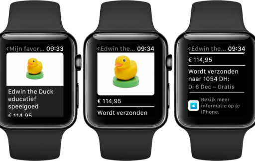 Apple Watch: favorieten in de Apple Store-app