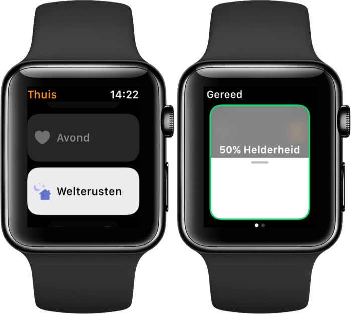Woning-app op de Apple Watch.