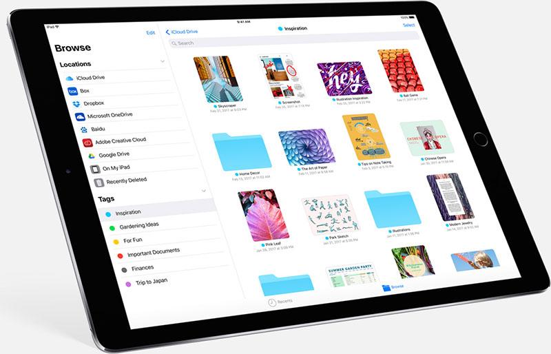Bestanden app in iOS 11