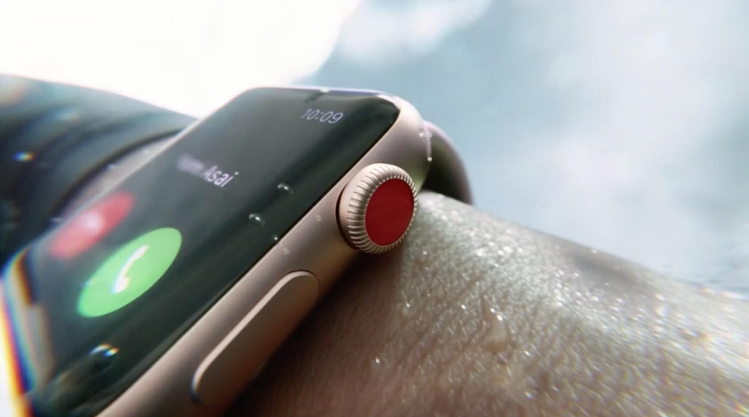 Apple Watch Series 3 waterbestendigheid