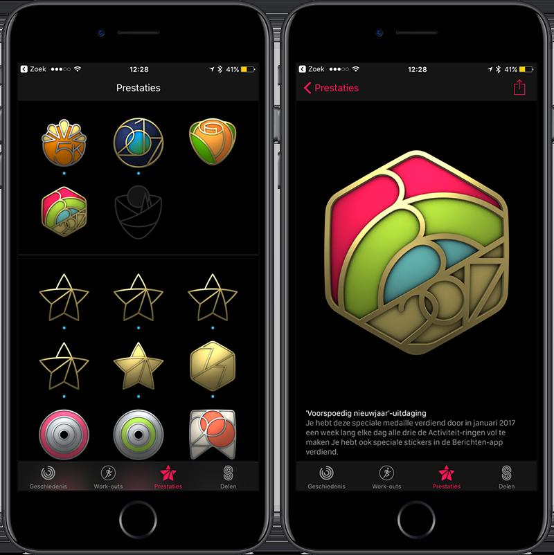Activiteit-app op de iPhone: prestaties