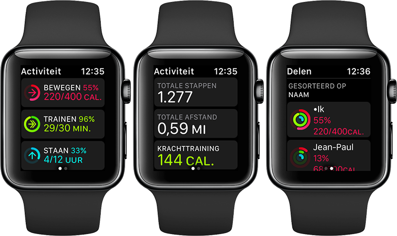 Activiteiten op de Apple Watch