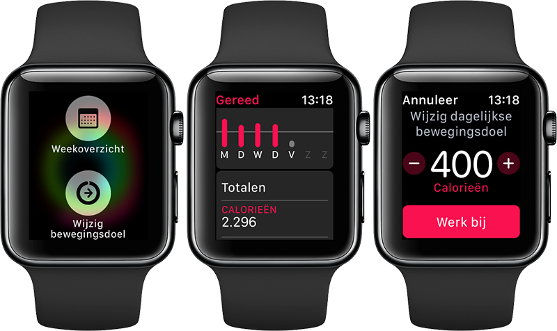 Activiteit-app: bewegingsdoel wijzigen