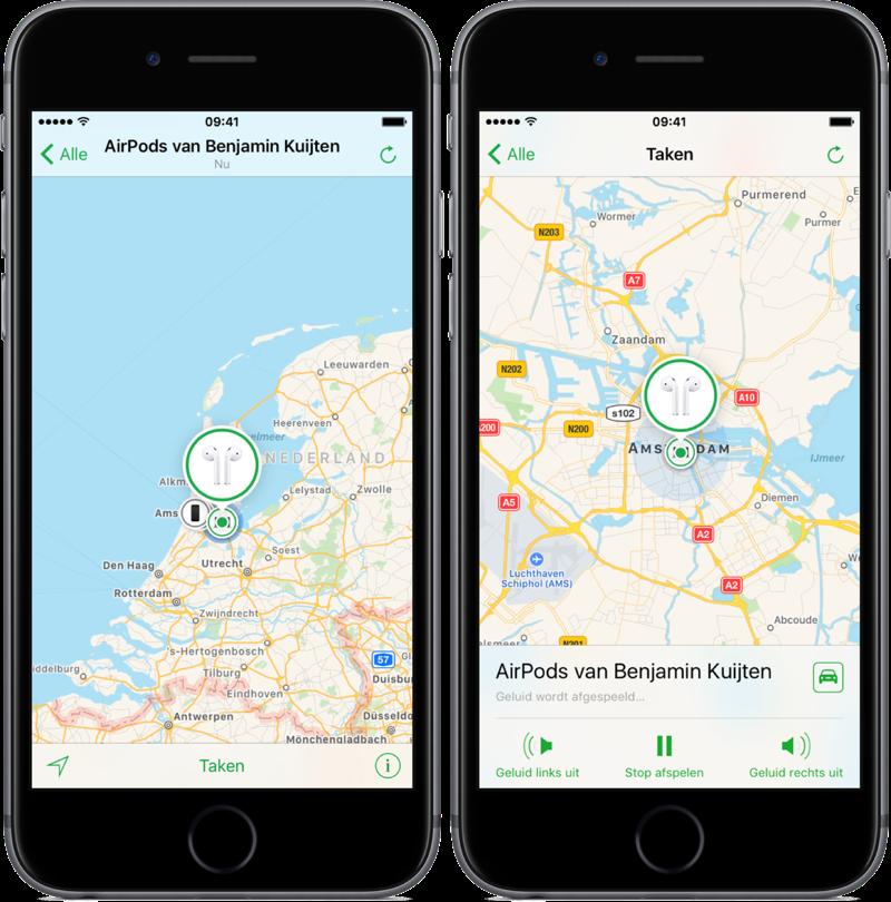 Zoek AirPods op de iPhone.