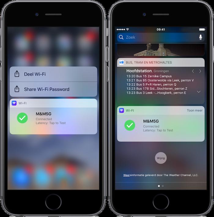 Wi-Fi Widget voor iOS