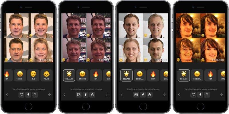 FaceApp: voorbeelden met mannen
