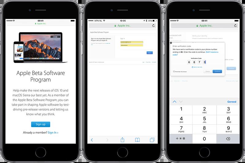 Beta installeren van iOS