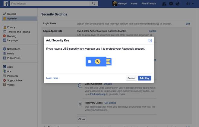 USB-sleutel voor Facebook
