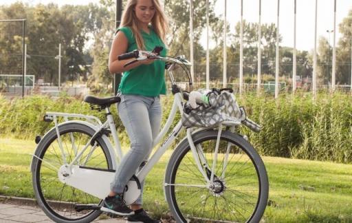 Smartphone en fietsen