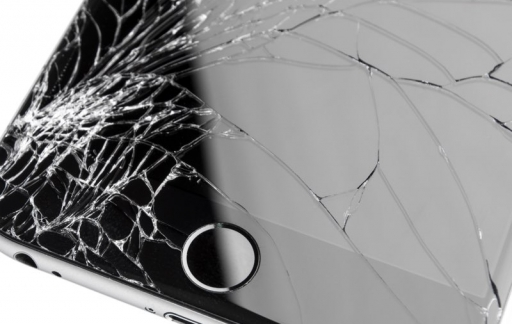 iPhone 6 met glasbreuk