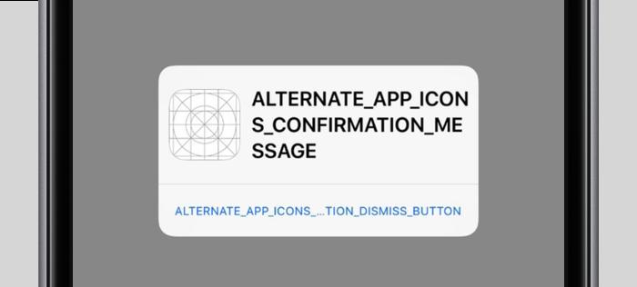 iOS 10.3 alternatief icoon instellen