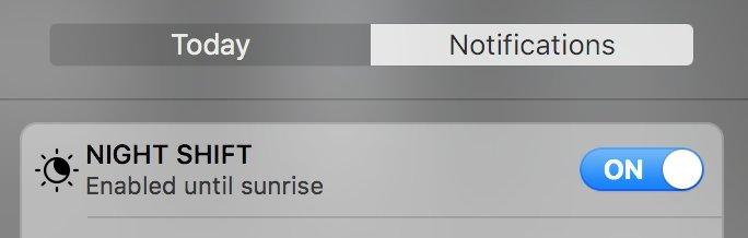 Nightshift Mac-schakelaar